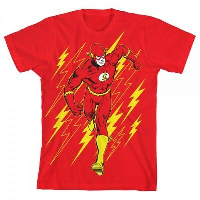 Brand New Boys  Youth DC Comics  The Flash Short Sleeve Cotton T-Shirt  XL
