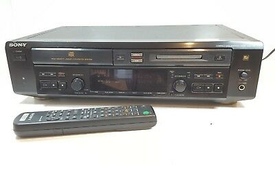 Sony Mxd-D3 Cd Player With Minidisc Player / Recorder - With Remote - Serviced