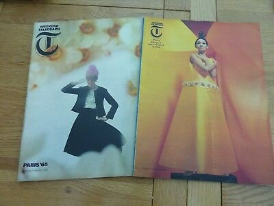 1956 & 1966 Weekend Telegraph Magazine X 2 Paris Fashion Week Original Complete