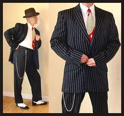 EXACT REPLICA Made to Measure 1940s Lindy Hop 42 33 Pinstripe suit Swing