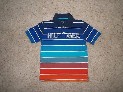 TOMMY HILFIGER  Boy's sz M (8-10)  Short Sleeve Polo Shirt