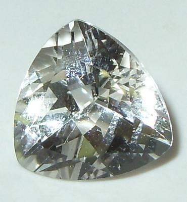 9.52ct Brazil Natural White Topaz Trillion Cut 13mm SPECIAL