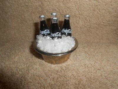 Vintage Coca-Cola Soda Pop Bottles on Ice Miniature Bucket 20 Years Old Magnet