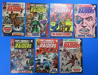 Captain Savage And His Leatherneck Raiders ~ Lot Of 7 Comics ~ #1 2 3 4 5 6 7 ~