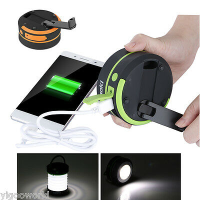 Outdoor Rechargeable Camping LED Lantern Portable Hiking Tent Light USB Lamp NEW