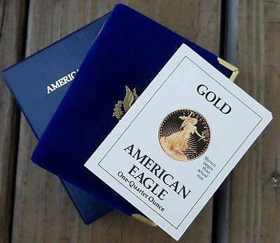 1990-P $10 American Gold Eagle Proof 1/4 oz Gold-COMPLETE-FREE USA Shipping