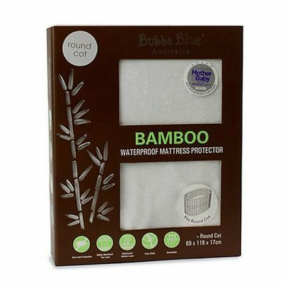 Bubba Blue Bamboo Waterproof Mattress Protector-Round Cot