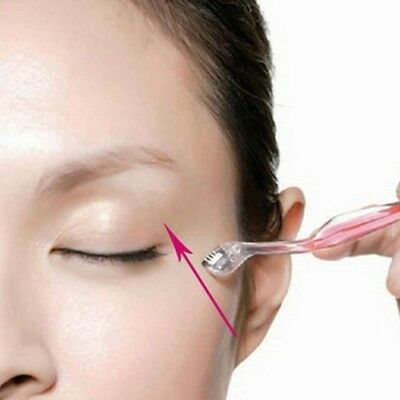 3*Pink Eyebrow Shaper Shaver Knife Trimmer Razor Hair Remover  Facial Tool YA9