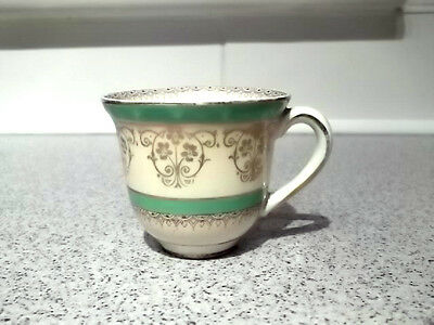 1930 +  Myott Cup  Green Bands And Gold Coloured Trim