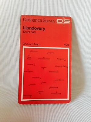 Vintage Ordnance Survey One Inch Map 140 Llandovery