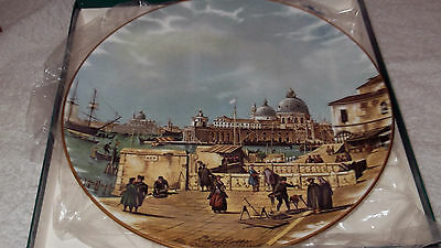 Boxed Crown Staffordshire Plate  The Quay Of The Piazzetta  By Canaletto