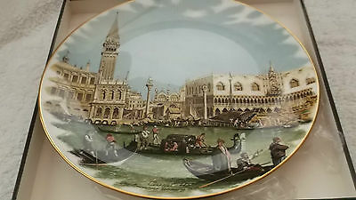 Boxed Crown Staffordshire Plate  The Bucintoro Returning To The Moto
