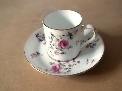 Crown Staffordshire  Coffee Can And Saucer With A Floral Pattern