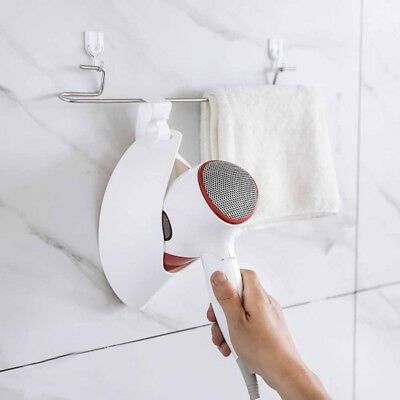 Hair Dryer Holder Stand Wall Mounted Bathroom Home Hairdryer Organizer Container