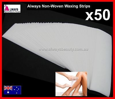 50Pc ALWAYS  Non Woven Waxing Strips Precut Thick Smooth Professional Strip Wax
