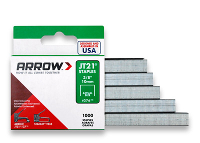 Arrow Staples Jt21 3/8in - 10mm Box of 1000