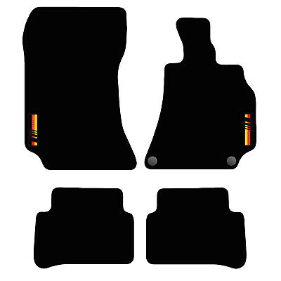 Tailored Carpet Car Floor Mats FOR Mercedes E-Class 2009 to 2013 with logo
