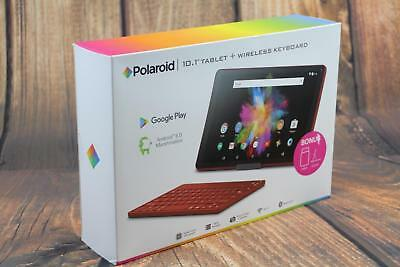 Polaroid 10.1 inch Tablet with Wireless Keyboard Case Cover Accessories - Red