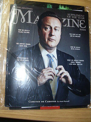 David Cameron.TIMES magazine.sealed bag/unread.28.3.15 UK celebrity magazine