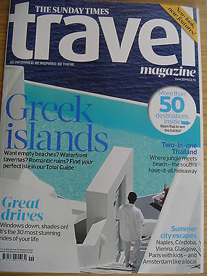 Times Travel.Greek Islands. Thailand. Naples. South Africa. June 2014