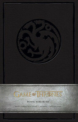 Game of Thrones, House Targaryen, Ruled Hardcover Pocket Journal, 192 Pages