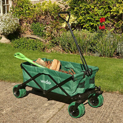 80Kg Wide Wheel Folding Garden Hand Cart Festival Beach Camping Trolley Wido