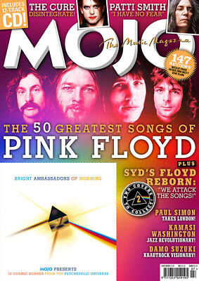 Mojo Magazine +Cd Issue 296 Jul '18 Pink Floyd The Cure Patti Smith Paul Simon