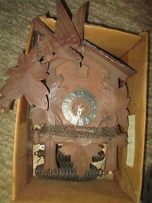 Antique Vintage Made in German Cuckoo Clock For Parts or Repair