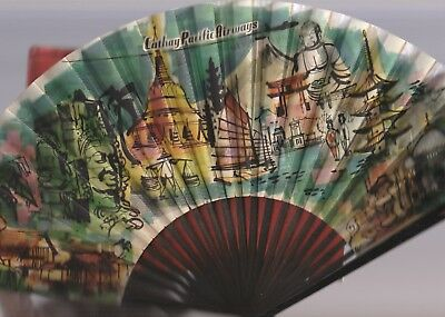 Cathay Pacific Souvenir 2-Sided Travel Scene Fan