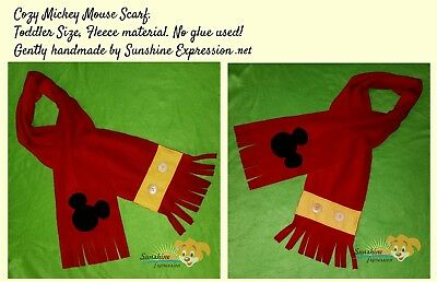Brand New Mickey Mouse Scarf  Women's Toddler Kids or Baby accessories scarves