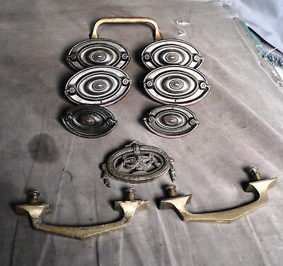 Antique Classical Arts Crafts Brass Steel Furniture hardware Oval Bail Pulls MIX