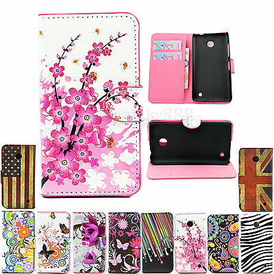 Stand Card Wallet Slot PU Leather Phone Case Cover For Nokia Lumia 630 635 N630