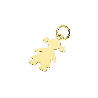 Charm Poupon en Or Jaune 9 Carats Attache Mousqueton