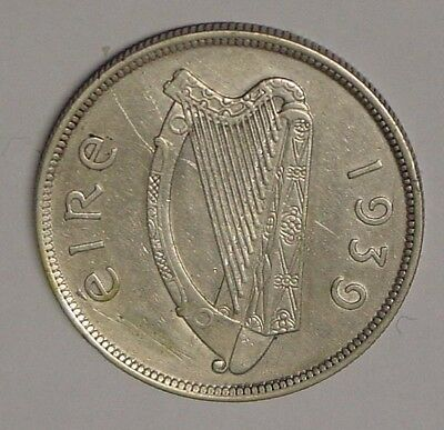 IRELAND, 1939 Half Crown, gVF a few marks.