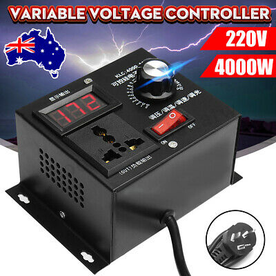 220V 4000W Variable Voltage Controller For Fan Speed Motor Control Dimmer