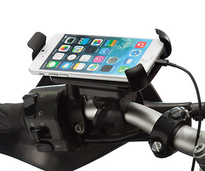 Motorcycle Helix Locking Strap Mount + One Holder for Mobile Smart Phones