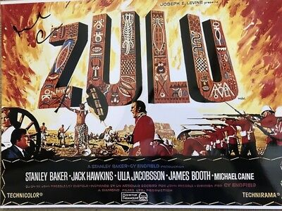 ZULU personally signed stunning 16x12 - MICHAEL CAINE as Lt. Gonville Bromhead