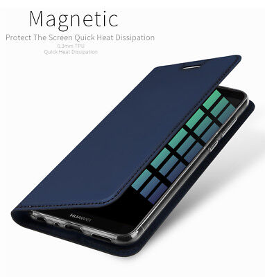 DD For Huawei P Smart PU Leather Flip Case Wallet Magnetic Skin Stand Cover