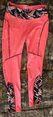 RBX performance pink w multi color block Workout Leggings,size girl S 7/8-DEFECT
