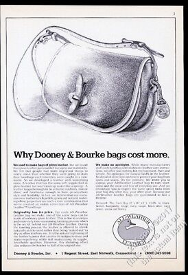 1983 Dooney & Bourke luggage handbag illustrated vintage print ad