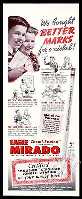 1942 Eagle Mirado Chemi-Sealed pencil photo vintage print ad