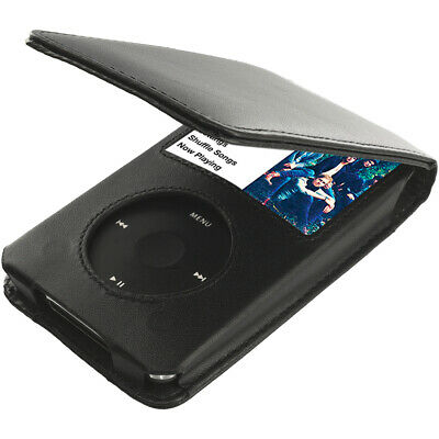 Black PU Leather Case Cover Pouch for Apple iPod Classic 5th 6th Generation