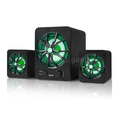 Multimedia Wired Computer Speaker Bass Stereo Music Sound Box For Laptop PC D0W6