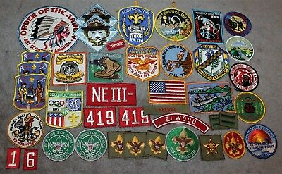 Vintage Lot Of 41 Bsa Boy Scout Patches Long Island Ny 1970-1977