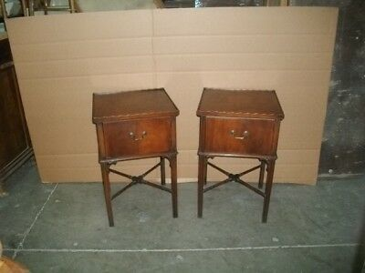 1940's - 1950's Pair of Mahogany stands