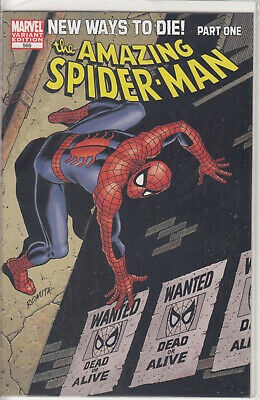 Amazing Spider-Man 568 Wanted Variant (John Romita Sr.) (NM) (Vol. 1)
