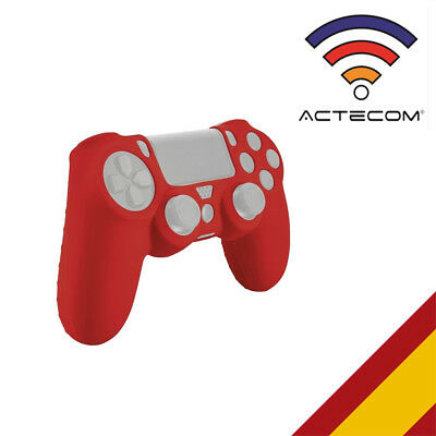Actecom® Funda Carcasa Silicona Roja Mando Sony Ps4 Playstation 4