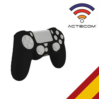 Actecom® Funda Carcasa Silicona Negra Mando Sony Ps4 Playstation 4