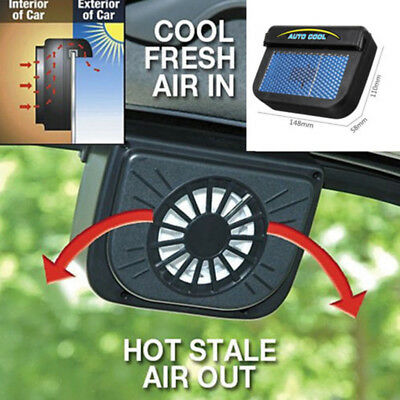 Solar Powered Car Window Windshield Auto Air Vent Cooling Fan Cooler Radiator YZ