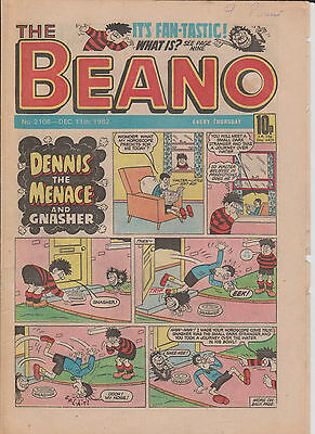 THE BEANO UK COMIC December 11th 1982 No. 2108 Original Vintage Birthday Gift